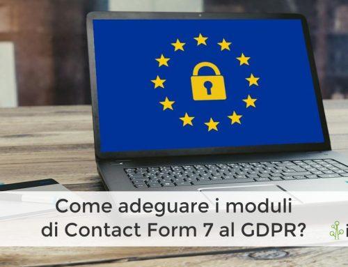 Come adeguare i moduli di Contact Form 7 al GDPR?