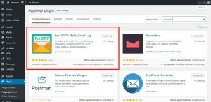 Installare plugin post smtp Postman
